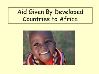 Aid Given By Developed Countries to Africa