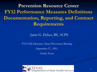 Janie G. Dykes, BS, ACPS