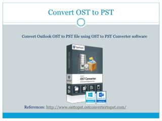 How to Convert Outlook OST to PST file?