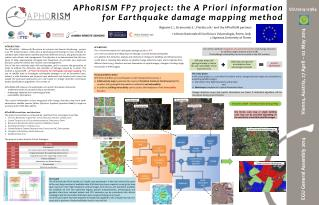 APhoRISM FP7 project: the A Priori information for Earthquake damage mapping method