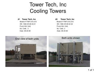 Tower Tech, Inc Cooling Towers