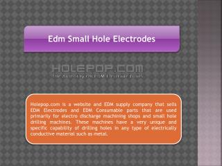 Edm Small Hole Electrodes