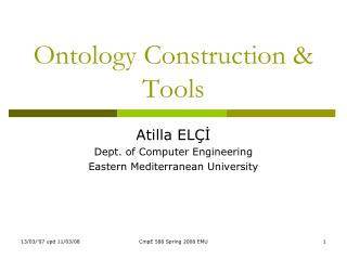 Ontology Construction & Tools