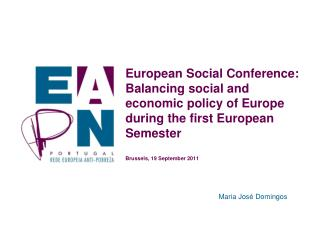 European Social Conference: Balancing social and economic policy of Europe during the first European Semester  Brussels,