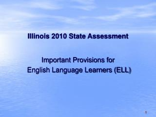 Illinois 2010 State Assessment