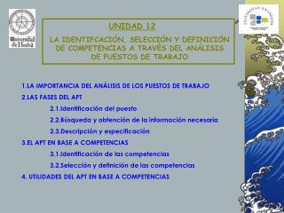 LA IDENTIFCACIÓN, SELECCIÓN Y DEFINICIÓN  DE COMPETENCIAS A TRAVÉS DEL ANÁLISIS