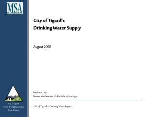 City of Tigard's Drinking Water Supply