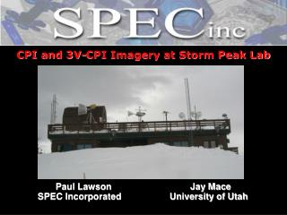 CPI and 3V-CPI Imagery at Storm Peak Lab