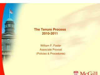 The Tenure Process 2010-2011