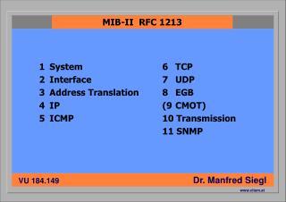 1System 2Interface 3Address Translation 4IP 5ICMP