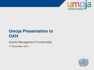 Umoja Presentation to OAH
