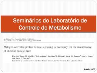 Seminários do Laboratório de Controle do Metabolismo