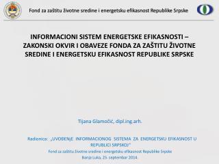 Tijana Glamočić , diplg.arh.
