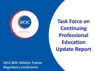 Task Force on Continuing Professional Education Update Report