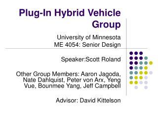 Plug-In Hybrid Vehicle Group
