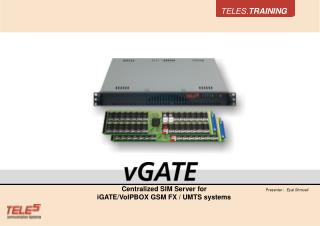 Centralized SIM Server for iGATE/VoIPBOX GSM FX / UMTS systems
