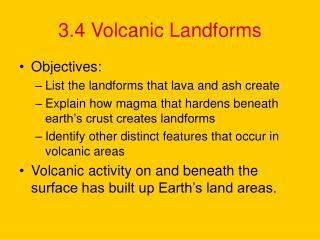 3.4 Volcanic Landforms