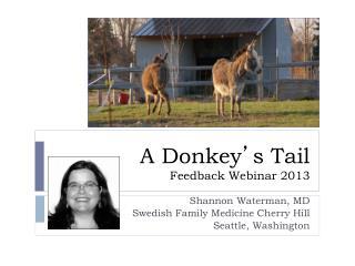 A Donkey ' s Tail Feedback Webinar 2013