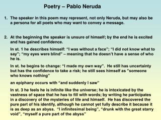 Poetry   Pablo Neruda
