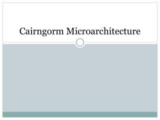 Cairngorm Microarchitecture