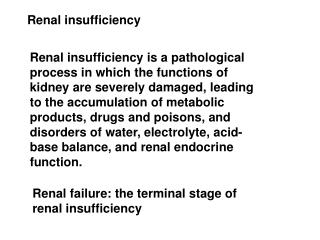 Renal insufficiency