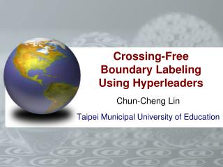 Crossing-Free Boundary Labeling Using Hyperleaders