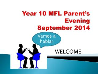 Year  10 MFL  Parent's Evening September  2014
