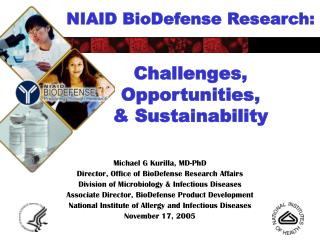 NIAID BioDefense Research: Challenges,  Opportunities, & Sustainability