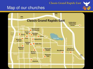 Map of our churches