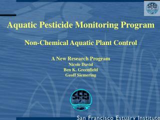 Aquatic Pesticide Monitoring Program