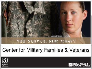Center for Military Families & Veterans