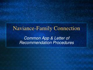 Naviance-Family Connection