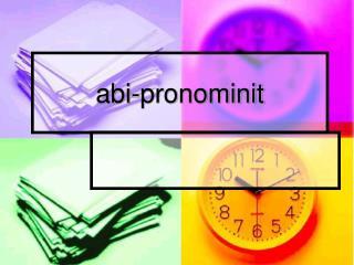 abi-pronominit