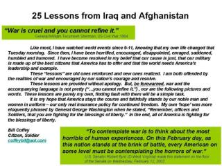 25 Lessons from Iraq and Afghanistan