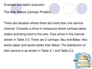 Example simulation execution