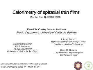 University of California at Berkeley – Physics Department