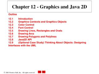 Chapter 12 - Graphics and Java 2D