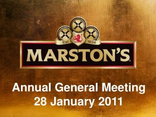 Annual General Meeting 28 January 2011