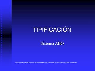 TIPIFICACIÓN