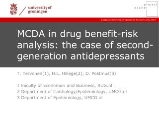MCDA in drug benefit-risk analysis: the case of second-generation antidepressants