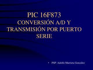 PIC 16F873 CONVERSIÓN A/D Y TRANSMISIÓN POR PUERTO SERIE