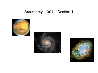 Astronomy  1001    Section 1