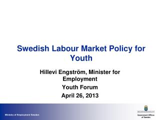 Swedish Labour Market Policy for Youth