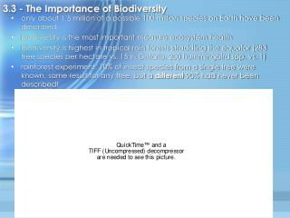 3.3 - The Importance of Biodiversity