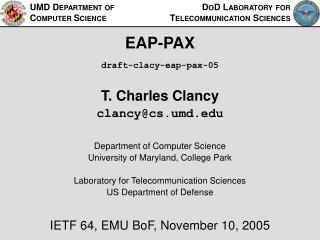 EAP-PAX draft-clacy-eap-pax-05