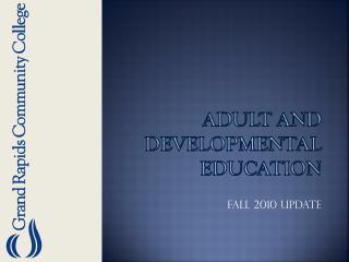 Adult and developmental Education