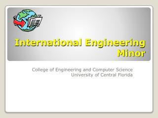 International Engineering Minor