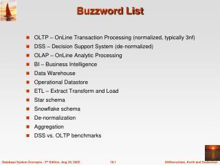 Buzzword List