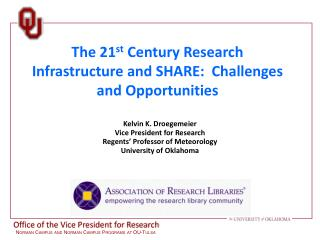 The 21 st  Century Research Infrastructure and SHARE:  Challenges and Opportunities