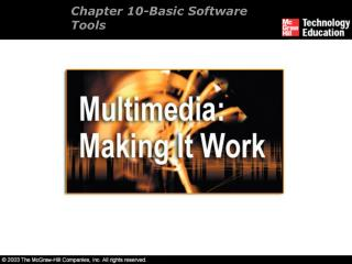 Chapter 10- Basic Software Tools